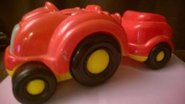 Fisher Price Little Tikes Tractor Tots Musical Farm Tractor Trailer Red - $15.00