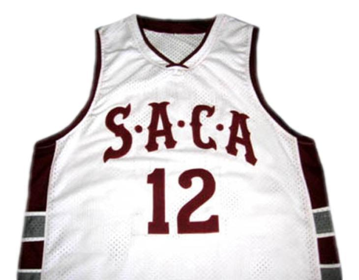 Dwight Howard #12 Saca High School Men Basketball Jersey White Any Size