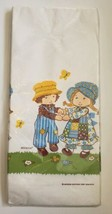"""VINTAGE Holly Hobbie 54"""" X 96"""" Tablecloth Cover American Greetings Blue ... - $12.19"""