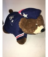 "New England Patriots NFL Mascot BEAR Plush Teddy 18"" Pillow Pets Folding... - $17.99"