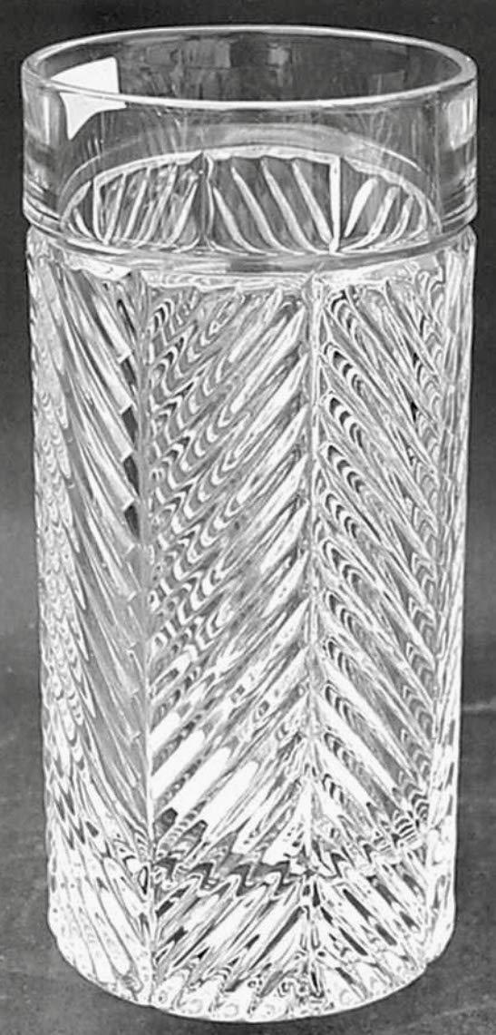 Ralph Lauren Herringbone Crystal Highball Glasses, 4 new in box