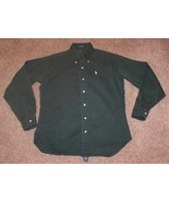 "POLO RALPH LAUREN Shirt Boys XL Green L/S Chest: 42"" (20) Thick / Heavy - $13.55"