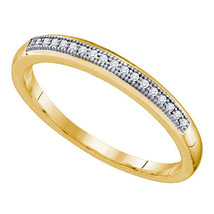 10k Yellow Gold Round Diamond Womens Bridal Wedding Anniversary Band 1/2... - $221.99