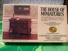 Dollhouse House of Miniatures Chippendale Lowboy Circa 1725 40024 New Sealed  - $17.99