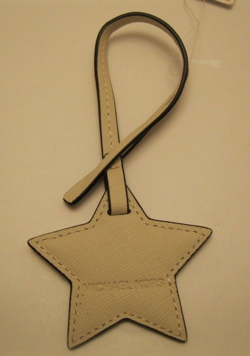 Primary image for Purse charm Michael Kors ReDuCeD pRiCe Leather Star Monogram charm NWT K14