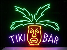 Tiki Bar Neon Light Sign Handcrafted Real Glass Neon Sign - $124.95+