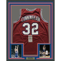 FRAMED Autographed/Signed BILLY CUNNINGHAM 33x42 Philadelphia Red Jersey... - €402,74 EUR