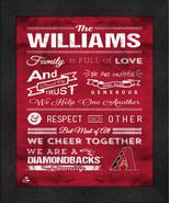 """Arizona Diamondbacks """"Family Cheer"""" 13 x 16 Framed Print - $39.95"""