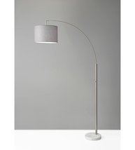 Adesso 4249-22 Floor Lamps Brushed Steel Bowery - $150.00