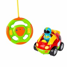 Big Mo's Toys Cartoon RC Race Car – Beginner's Remote Control for Toddle... - $21.45