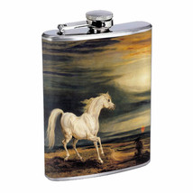 Horse Em2 Flask 8oz Stainless Steel Hip Drinking Whiskey - $13.81