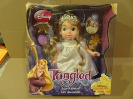 Disney Tangled Baby Rapunzel W/ Accesories Doll New In The Damaged Box Cl EAN - $39.99