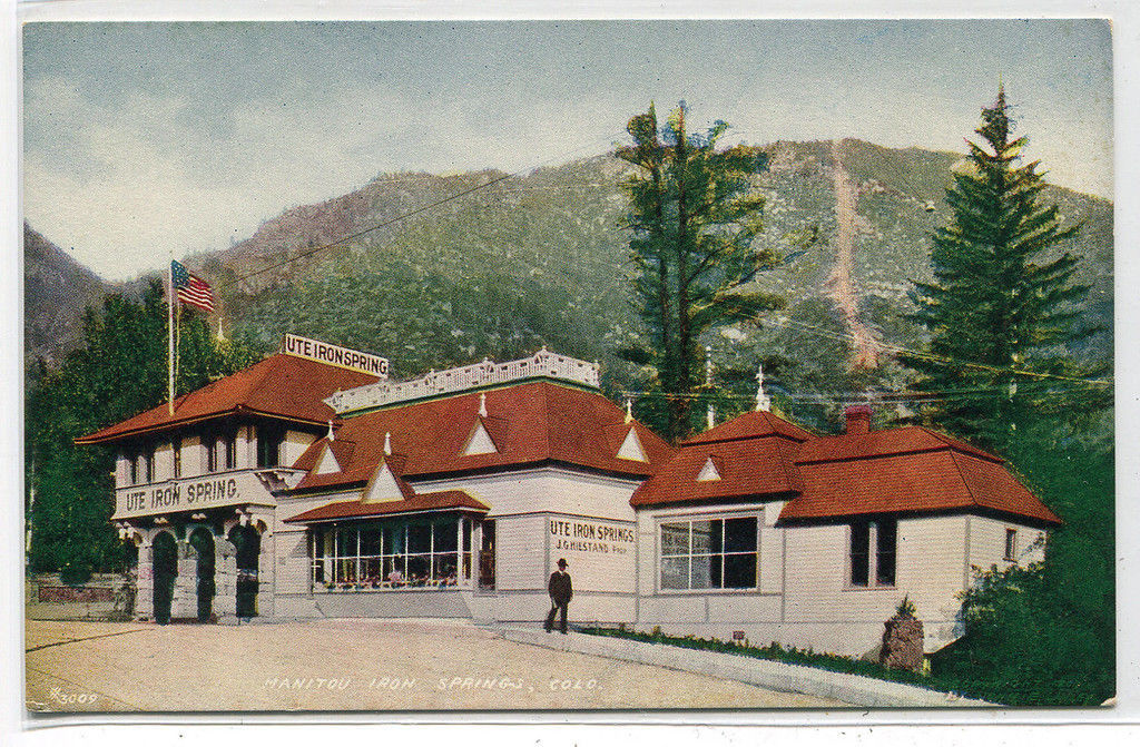 Manitou Iron Springs Colorado 1910c postcard