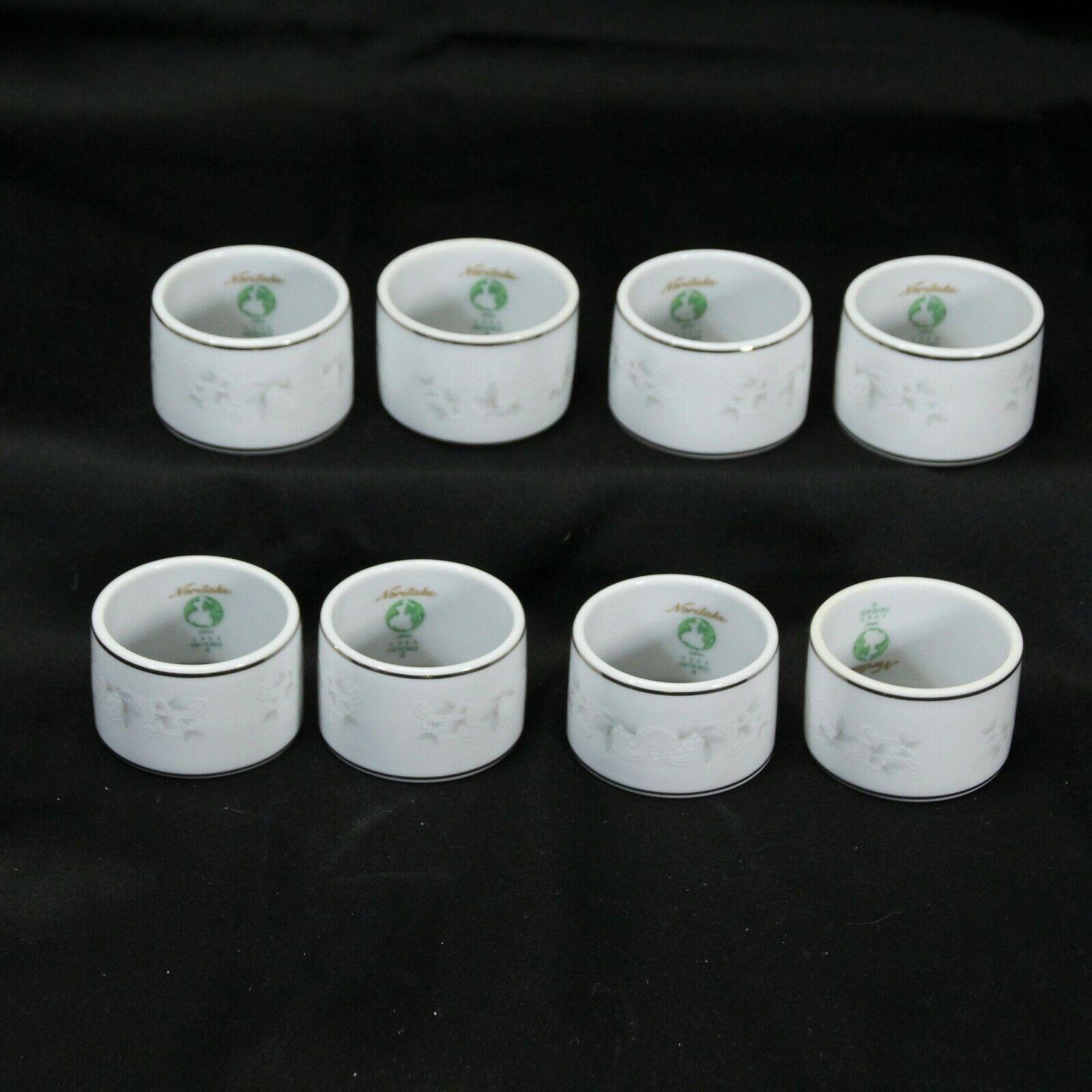 Noritake Patience Napkin Rings Lot of 8 - $195.99