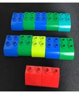 LEGO DUPLO Slant Edge and Curved Slop Blocks - Lot of 12 Pieces - $5.89