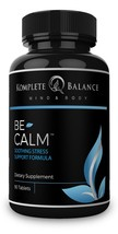 BeCalm | Premium Stress & Anxiety Relief Supplement Natural Sleep Aid Adrenal... - $16.58