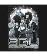 Stargate Universe Gate Main Cast and Logo Black T-Shirt NEW UNWORN - $14.50