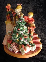 The San Francisco Music Box Co. Children waiting for Santa 1994 - $39.09