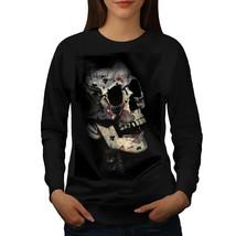 Poker Card Skeleton Skull Jumper Indian Cult Women Sweatshirt - $18.99