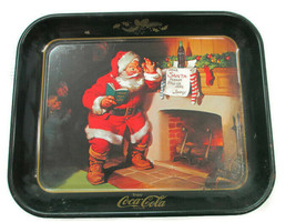 Coca-Cola Reproduction Tray of 1963 Dear Santa Sundblom Ad Issued 1976 - $2.48