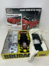 BBURAGO 1992 DODGE VIPER RT/10 - 1:18 SCALE METAL MODEL KIT - Please Reaf - $24.18