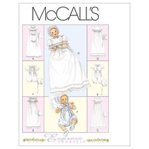 McCall's Patterns M6221 Infants' Christening Gown, Rompers With Snap Crotch In 2 - $14.21
