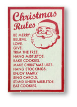 Christmas Rules Approx Size 16 x 25  Rustic Wooden Sign Holiday Sign Ite... - $47.00