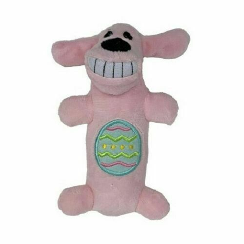 """Multipet Loofa Dog Toy  DOG WITH SQUEAKER 6"""" Pink    (STORE ) New With Tags"""