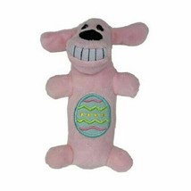 """Multipet Loofa Dog Toy  DOG WITH SQUEAKER 6"""" Pink    (STORE ) New With Tags image 1"""