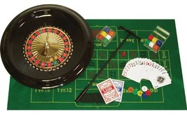 """Poker 16"""" Deluxe Roulette Set Accessories Included 120-chip 2-balls Whee... - $23.64"""
