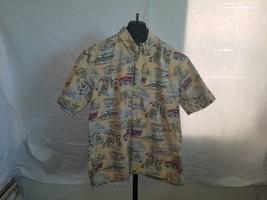 Art Of Eddy Y By Reyn Spooner Size XL Yellow Woody Sports Car Hawaiian S... - $19.32