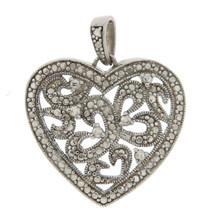 ¦925 Sterling Silver Heart Pendant »P420 ANTIQUE DESIGN! - $24.95
