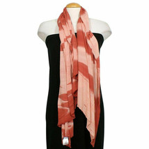 EILEEN FISHER Peach Viscose Cashmere Ombre Angled Scarf - $79.99