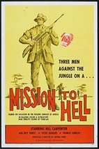"""MISSION TO HELL - 27""""x41"""" Original Movie Poster One Sheet Bill Carpenter... - $58.80"""