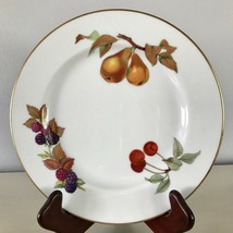 Evesham Gold Salad Plate Fine Porcelain Royal Worcester Fruit Gold Trim ... - $19.34