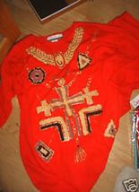 LADIES 2pc DIANA MARGO Red Soft Shirt Elastic Pants Suit Jogging Size 14... - $15.65