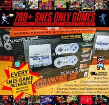 780+ SNES Only Games (Entire SNES Library) Modded Nintendo Mini Classic Console - $279.00