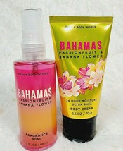 Bath & Body Works BAHAMAS Fragrance Mist 3oz Body Cream 2.5oz Travel Set... - $15.83