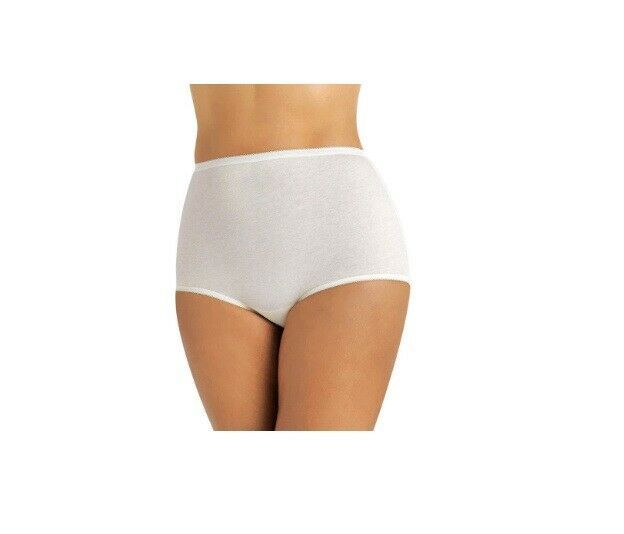 Primary image for Vanity Fair Women's PERFECTLY YOURS TAILORED COTTON BRIEF 9215318 White 9/2XL