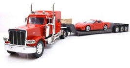 Popak New Ray Kenworth Semi Truck Diecast Car Hauler 1:24 *NO CORVETTE* - $61.74