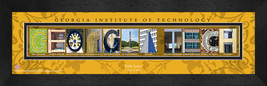 Personalized Georgia Tech Campus Letter Art Framed Print - $39.95