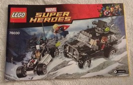 *LEGO INSTRUCTIONS Super Heroes Arctic Batman vs Mr Freeze MANUAL ONLY 76000 NEW