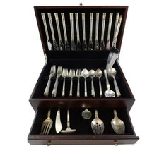 Aegean Weave Gold by Wallace Sterling Silver Flatware Set 12 Service 67 Pieces - $4,995.00