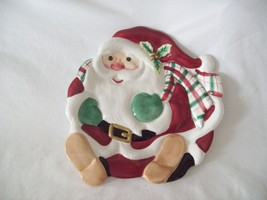 Fitz and Floyd Dish Santa Red Plate Candy Collectible Christmas Holiday  - $16.73