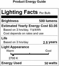 GU10 Halogen Light Bulb, MR16 Light Bulbs 120V/50W, Glass Cover & Dimmable, 500 image 3