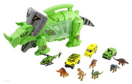 Dinosaur Carrier Toy (Includes Mini Dinosaurs and Mini Car Toys) Christmas Gifts - $31.50