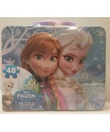 Disney Frozen Elsa Anna Puzzle in Lunchbox Tin with Handle 48-Piece New  - $14.84
