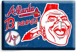 ATLANTA BRAVES MLB BASEBALL TRIPLE LIGHT SWITCH PLATE GAME TV BOYS ROOM ... - $14.39
