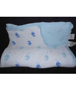 Aden by Aden + Anais Double Layer Baby Blanket Blue White Elephant Musli... - $20.77