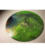 """12"""" Vinyl Music Record Wall Art - Fluid Acrylic Flowing Poured Paint 001 - $23.70"""